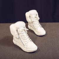 №【2019新款】冬天穿的雪地靴女鞋百搭加绒冬天防水短靴棉鞋韩版棉靴