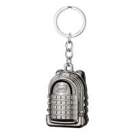 防风充电打火机 金属钥匙扣电子点烟器吃鸡空投三级背包