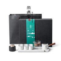 功夫茶具套�b 家用客�d陶瓷茶�夭璞�整套排水茶�P泡茶