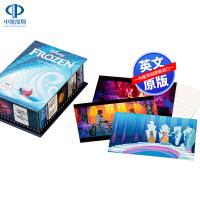 英文原版 冰雪奇缘 收藏明信片100张 Disney Frozen Postcard Box 概念艺术设定卡片 迪斯尼