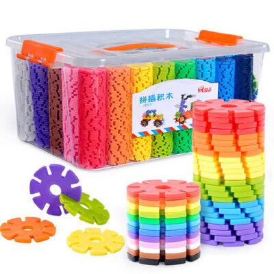 雪花片积木玩具幼儿园3-6周岁男孩女孩儿童益智拼插大号拼装玩具