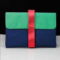 苹果笔记本电脑包Macbook pro air13寸内胆包mac保护套手提包 【宝蓝+绿】 13寸