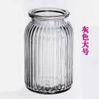 艾欧唯 欧式玻璃花瓶简约创意家居摆件现代客厅插花花器透明清新大号花瓶
