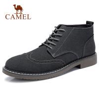 camel骆驼男鞋 秋季新款英伦上班休闲通勤短靴潮流时尚中帮靴子