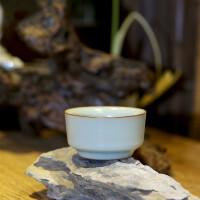 汝窑釉主人杯茶杯陶瓷 品茗杯景德镇开片功夫茶具茶杯 单杯 问泉杯