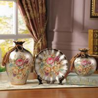 欧式花瓶摆件奢华摆设品家庭装饰室内客厅酒柜装饰品闺蜜结婚礼物