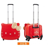 韩版儿童拉杆箱万向轮女迷你旅行箱可爱学生公主箱卡通登机小皮箱 18寸