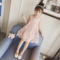 连衣裙夏装新款韩版时尚儿童洋气裙子小女孩蕾丝公主裙潮