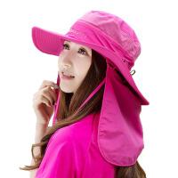 夏季防晒遮阳帽太阳帽男户外垂钓渔夫帽登山大沿帽