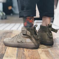 GBOY中帮马丁靴男潮流男士靴子短靴英伦复古潮牌运动休闲板鞋