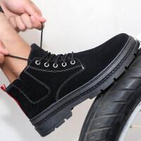 马丁靴男高帮男鞋加绒保暖雪地靴子冬季中帮男靴潮流百搭工装棉鞋