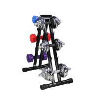 体育用品器材家用纯铁手提哑铃架子健身房哑杠铃移动架 1