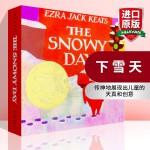下雪天 英文原版绘本 The Snowy Day 1-2-3-4岁儿童早教启蒙故事纸板书 凯迪克金奖 Christma