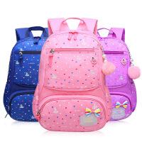小学生书包新款女孩书包1-6年级儿童背包6-12周岁防水减负公主包5pt
