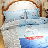 60支纯棉地中海床上四件套卡通三件套床单被套全棉儿童小男孩床品