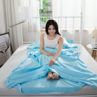 征伐 隔脏睡袋 纯棉旅行宾馆睡袋隔脏成人素色户外全棉超轻便携双人卫生内胆