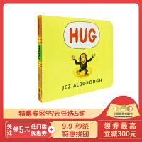 进口英文原版 Hug 抱抱 纸板书 格林威大奖作家Jez Alborough 强烈推荐 儿童启蒙学习 亲子关系 睡前晚安