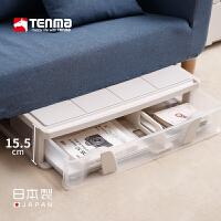Tenma日本进口天马株式会社收纳箱透明抽屉式衣服衣柜整理内衣收纳盒床底储物箱
