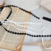 洋装旗袍花边辅料韩国定单好品质细水溶黑色白色宽0.9cm