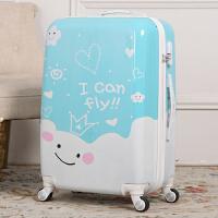 卡通行李箱万向轮儿童登机拉杆箱旅行男箱包20寸24寸学生密码箱女