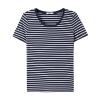 【秒】美特斯邦威条纹短袖T恤女夏装纯棉半袖衫打底上衣学生百搭韩版