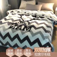 毯子冬季加厚毛毯男学生单人宿舍保暖女冬用被子双层 双层加厚200X230cm 约9斤