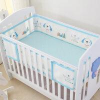 婴儿床围3D透气夏季宝宝婴儿床上用品套件通用尺寸可水洗a395 通用尺寸