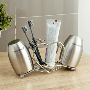 【满减】ORZ 浴室卫生间桌面牙刷架大号杯子情侣套装 剃须刀沥水置物架