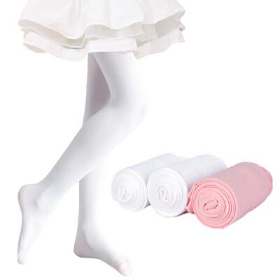 【2条装】女童连裤袜天鹅绒儿童舞蹈袜白色打底袜春夏款连裤袜 不易起球  不易勾丝