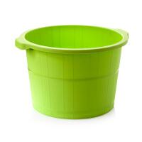 加高加厚塑料泡脚桶脚底颗粒按摩底洗脚桶足浴盆仿木足浴桶水桶
