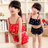 振亚韩国儿童泳衣女童女孩泳装公主比基尼分体裙式小中大童游泳衣