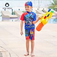 泳装新款儿童泳衣男童分体泳衣宝宝泳衣 带帽游泳衣批发
