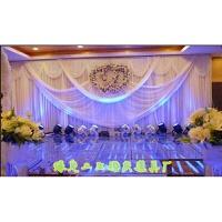婚庆道具用品豪华布幔纱幔舞台背景布置结婚婚礼新款