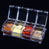 可旋转式调料盒有盖多层创意厨房用品 调味瓶调料罐子立式调味盒 kw3