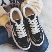 秋冬季新款加绒帆布鞋二棉鞋韩版百搭学生冬鞋冬天板鞋女鞋潮