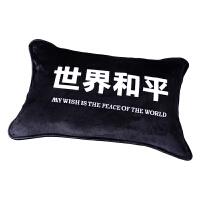 我的愿望是世界和平法兰绒枕套印制抱枕沙发靠垫单人学生枕头枕芯 48cmX74cm