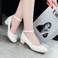 女童皮鞋甜美蝴蝶结儿童高跟鞋小女孩公主鞋中大童学生表演舞蹈鞋