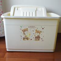 滑轮塑料整理箱特大号储物收纳箱加厚加盖衣服卫浴杂物收纳盒