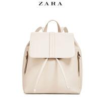 2019ZARA新款女包双肩包日常背包时尚休闲旅行包包简约软皮书包潮
