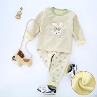 婴儿衣服保暖内衣套装纯棉新生儿宝宝内衣秋冬款婴儿衣服套装6-12个月