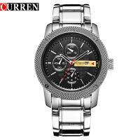 CURREN 卡瑞恩8069男士防水日历石英手表 高档商务休闲是装手表