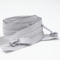 羽绒服拉链 8号树脂开尾双头双向上棉睡袋粗齿单头加长锁 浅 加厚双头120cm