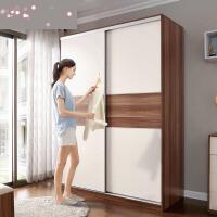 家具卧室多功能推拉门衣柜两门趟门滑移门大衣橱柜子CP5D o4u