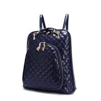 2017菱格单双肩包两用女包韩版时尚旅行背包