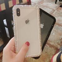 iPhoneX手机壳水钻苹果8 plus满钻XR壳iPhone7硅胶6S防摔套XS max 苹果XS max 黑色 6
