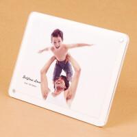 萌碎 亚克力相框摆台创意6寸7 8韩版像框架现代简约七寸儿童照片相框简约相框