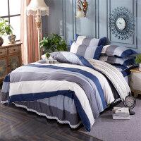 纯棉床裙式床罩四件套床上200x230cm被套床套2款带1.5米1.8m