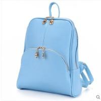 时尚双肩包女韩版背包pu潮款女士休闲学院风旅行双肩包学生书皮包