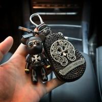新款克罗心创意可爱镶钻汽车用钥匙扣钥匙圈钥匙包车载遥控包女