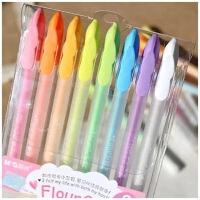 晨光粉彩贺卡笔AGP61303彩色水粉笔diy相册黑卡用中性笔 8色一套